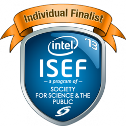 Intel ISEF 2013 Finalist