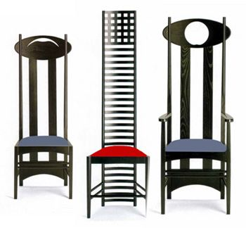 charles-rennie-mackintosh chairs