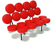 Red-view-onColorful-Nelson-Marshmallow-Sofa-by-Irving-Harper