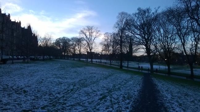 Bruntsfield Links, Edinburgh, in the snow