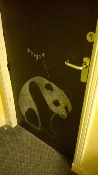 Our Panda Chalk Door by Erin Nolan 2016 | pigeonsblue.com