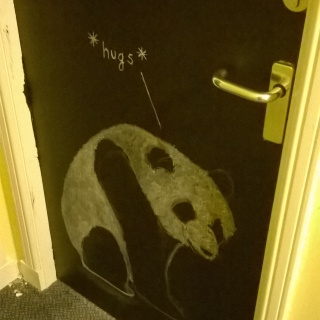 Our Panda Chalk Door by Erin Nolan 2016 | pigeonsblue.com